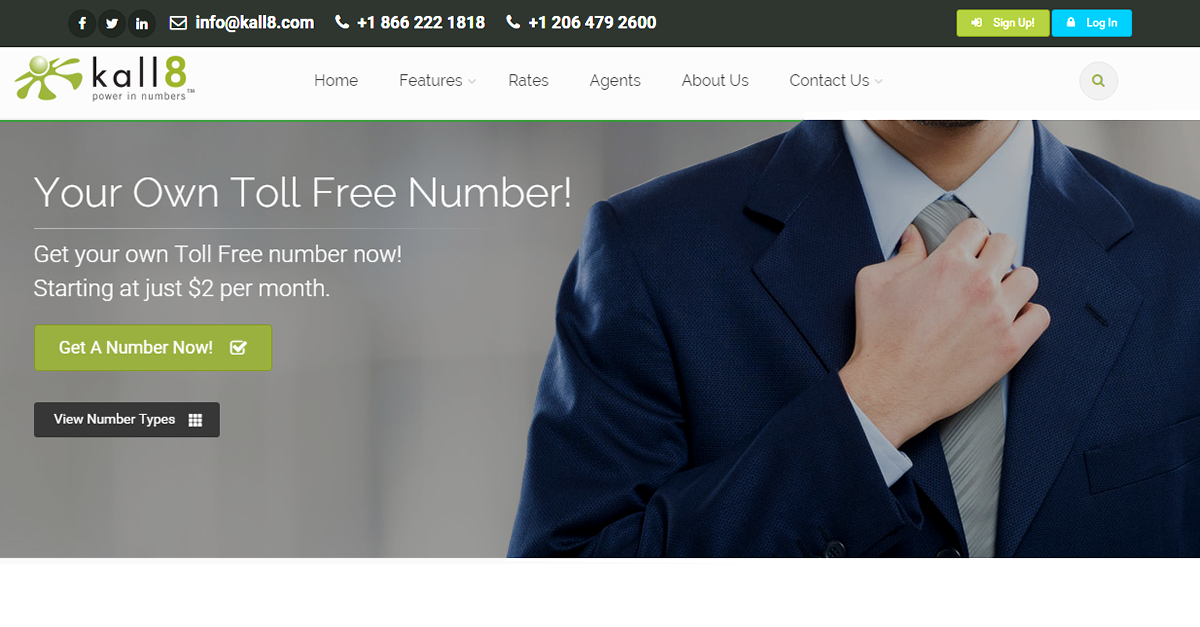 Kall8 : Vanity, 1 800 Numbers, & Toll Free Phone Services - Home